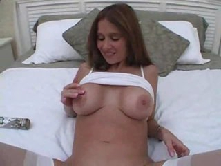 Wife in white gobbling pecker and loving it