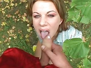 Sexy brunette babe teasing