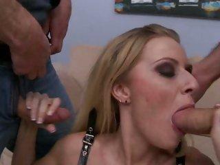 Slut Riley Evans drools on these tasty pricks