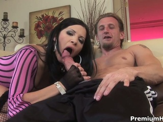 Lustful rebecca gets all her holes fuck on