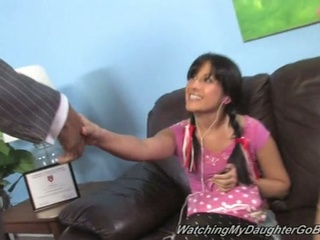 Daddy watches black cock fuck daughter chelsie rae