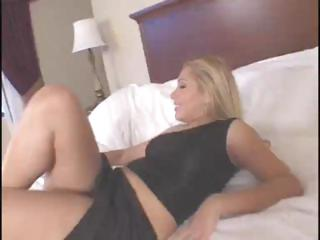 Blonde Latina babe Sasha Sans sucks and fucks a big black dick
