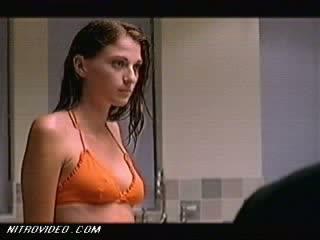 Breathtaking Brunette Katie Ferguson Walking Around In a Wet Bikini