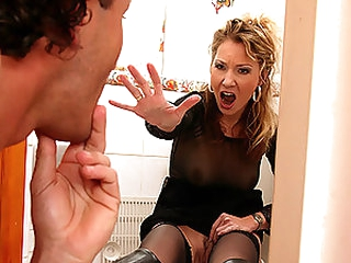Insanely Hot Blonde Anal Strumpets Gets Fucked and Facialized In Underware