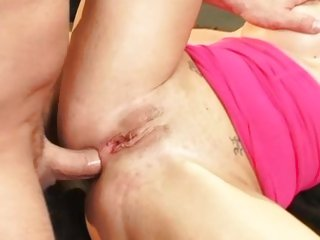 Joslyn James has her gash gored in a garage
