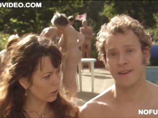 Busty British Sweetheart Olivia Colman Shows It All At a Nudist Camp