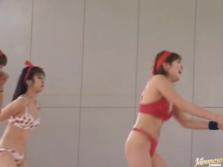 Amateur Asians Playing Undressed Basketball