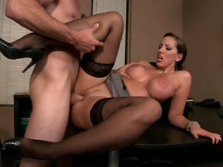 Kelly Divine spreading her legs for a wonderful office fuck