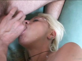 Vicious Blond MILF Gets Fucked and Then Swallows Hot Goo