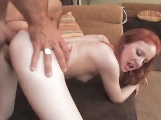 Young slim redhead fucked in arse to gape