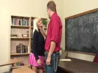 Busty blond schoolgirl Briana Blair getting screwed hard by her adviser