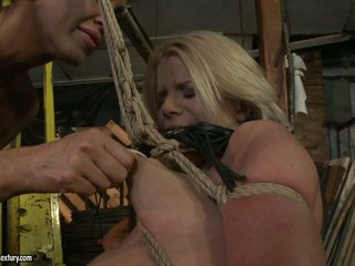 Mandy Bright tied a hot blond with rope