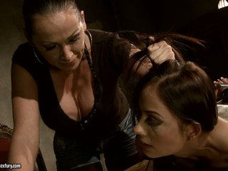 Mandy Bright a strict mastix punish a hot girl