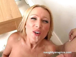 Wicked Sue Diamond sucks a biggest cock and gets facialised