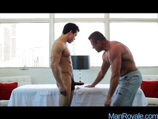 Hot gay lovers morning seduction