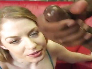 Haley Scott loves getting showered in hot jizz