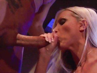 Elegant Nikki Benz rams a stiff cock down her throat