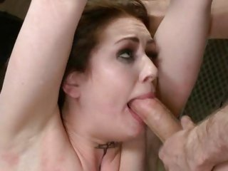 Sarah Shevon takes a stiff cock down her throat