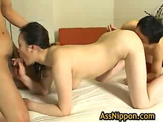 Hitomi Aizaw Hot Asian babe gets some anal sex 5 by AssNippon