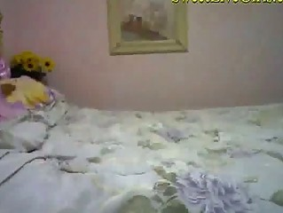 Cute 19 years Old Teen Plays with her Kitty
