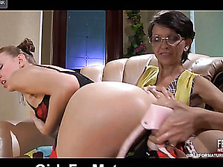 Lily M&Aubrey pussyloving aged on movie