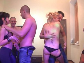 Hawt sex party with insatiable honeys