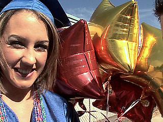 eighteen year old Bella's graduation fuck ceremony!