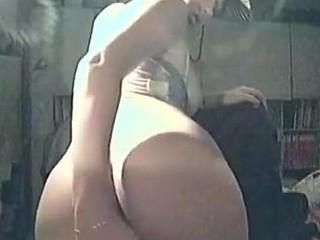 Cowgirl private strip down clip
