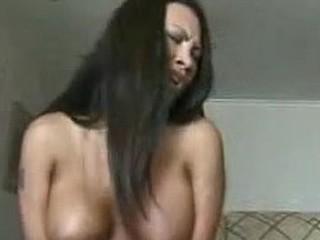 Busty Thai Babe Fucks Self With A Dildo