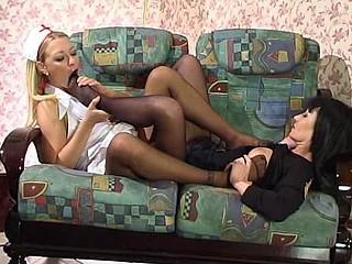 Ottilia&Rosaline great nylon feet movie