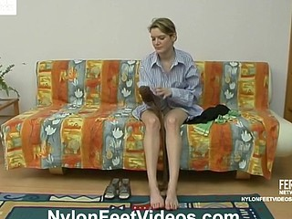 Ninette&Adrian wicked nylon feet movie