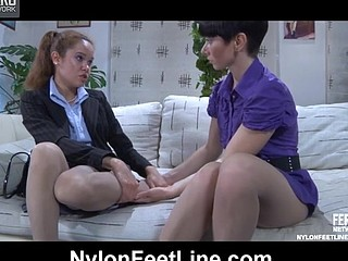 Mabel C&Mireille nylon footsex movie
