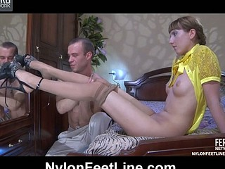 Madeleine&Herbert nylon footsex movie scene