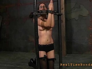 Sexy cutie gets bound hard