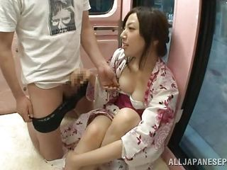 japanese cutie gets creampied