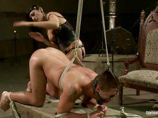 busty mistress beretta makes a bitch out of a man!