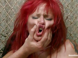 redhead slut phoenix gets gangbanged