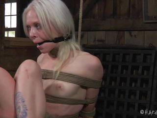tied and tortured blonde cutie