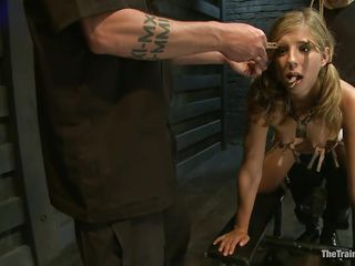thin fragile blonde fucked and punished hard