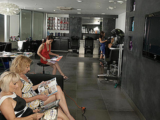 Specific age-old movie in a kinky lesbo salon