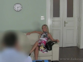 Amorous couch pounding for smoking hot blonde Briggi