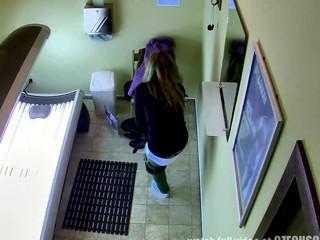 Hidden Webcam - Unshaved Cunt in Solarium