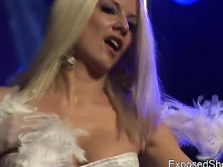 Attractive slut getting wild on the stage