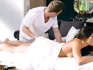 Stunning Adriana Chechik has anal sex with perv masseur