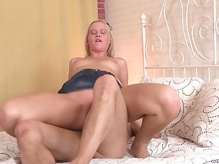 Best anal fuck scenes with blonde in real orgasm
