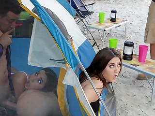 JoJo Kiss  Karlee Grey  Jessy Jones in In Tents Fucking: Part 2 - BrazzersNetwork