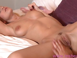 Lesbea Massage girls with huge boobs eat pussy