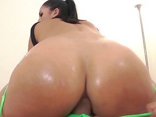 Big Latina ass deserves a big cock to fuck it deep