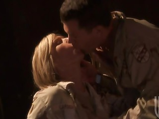 Two Hot Asians and a Blond Getting Fucked In Their Uniforms In Fuckfest