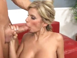 The sexy blonde milf wants a large jock